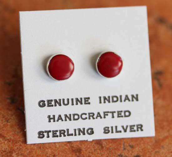 Navajo Coral Earrings