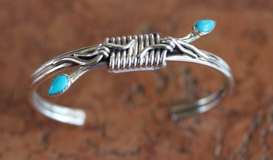 Navajo Sterling Silver Turquoise Bracelet