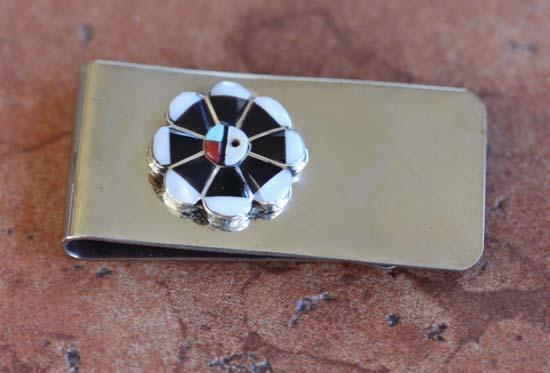 Zuni Native American Multi_Stone Money Clip