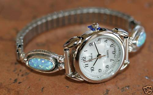 Navajo Created Opal Ladies Watch by Etta Larry