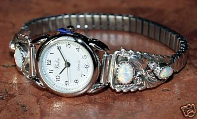 Navajo Created Opal Ladies Watch by Pansy Johnson