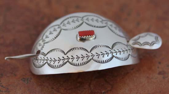 Navajo Silver Coral Barrette