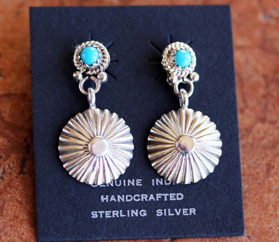 Navajo Silver Turquoise Earrings