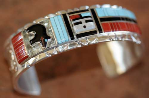 Zuni Indian Sunface Bracelet by Don Dewa
