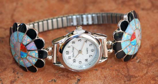 Zuni Silver Sunface Ladies Watch