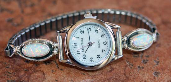 Navajo Created Opal Ladies Watch by Etta Larry
