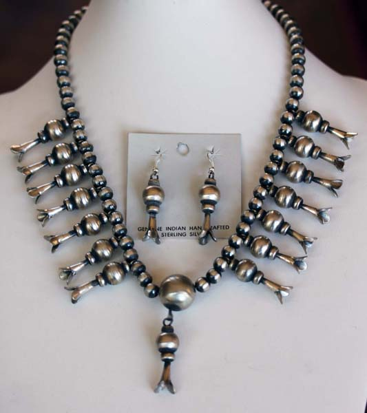 Navajo Sterling Silver Necklace Set