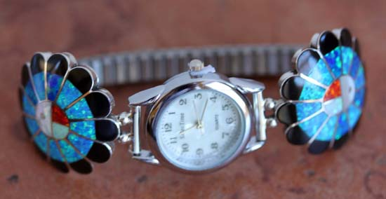 Zuni Silver Sunface Ladies Watch