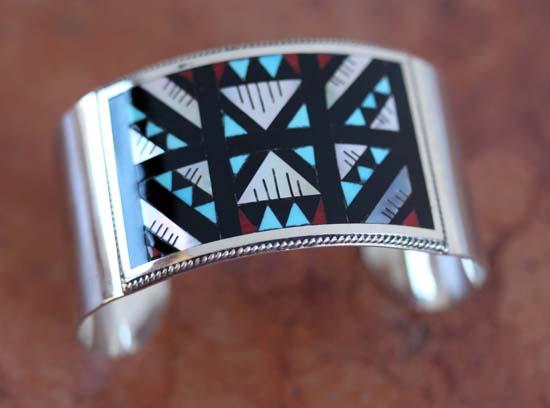 Zuni Silver Multi_Stone Bracelet by LL Athala