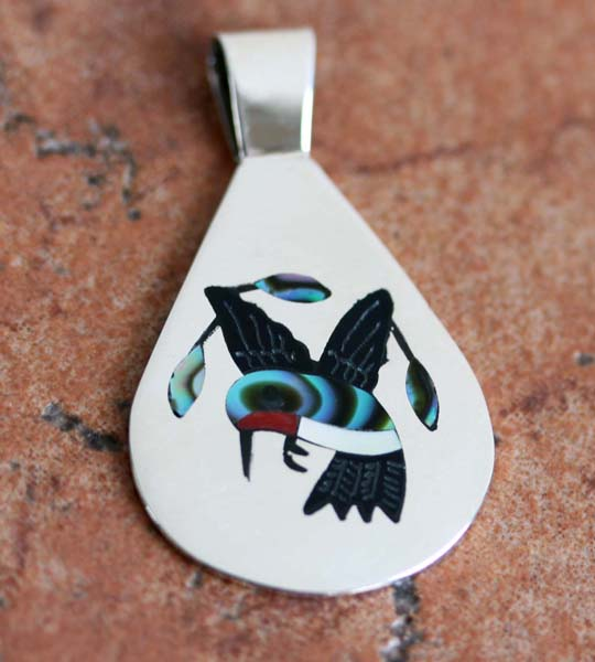 Zuni Native American Bird Pendant by SC Edaakie