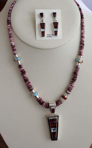 Zuni Sterling Silver Necklace/Earrings by RP Edaakie