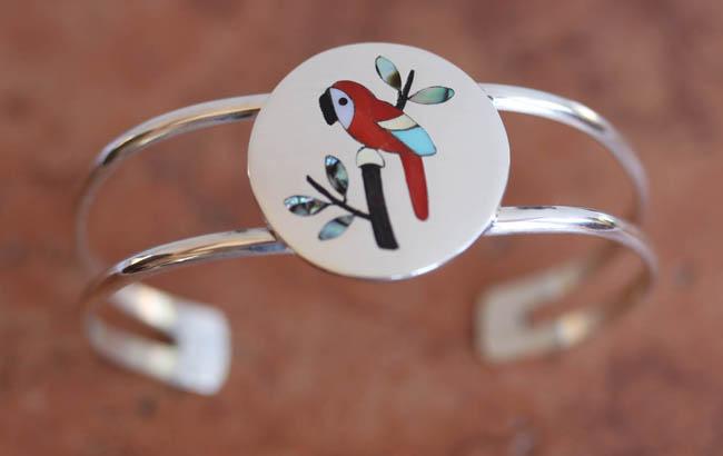 Navajo Sterling Multi_Stone Cardinal Bracelet