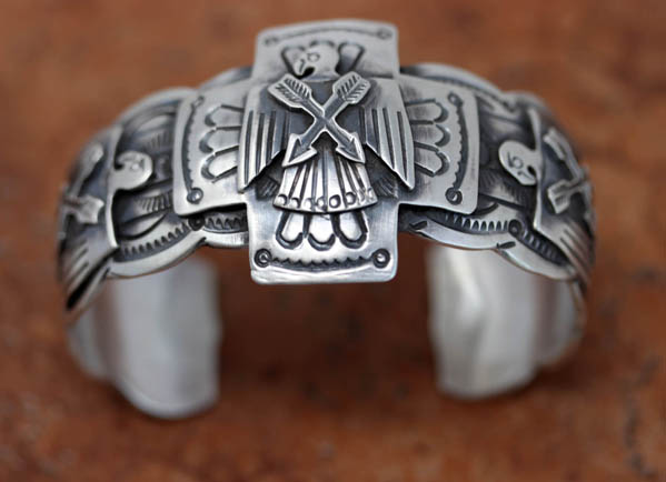 Navajo Silver Eagle Bracelet