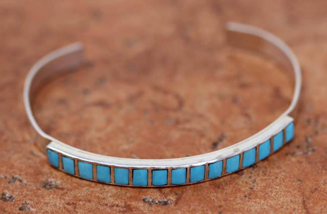 Zuni Silver Turquoise Bracelet