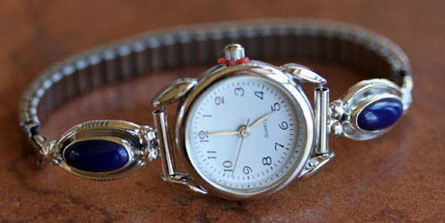 Navajo Lapis Ladies Watch by Etta Larry
