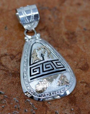 Navajo Sterling Silver Pendant by A. Mariano