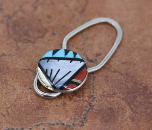 Zuni Multi_Stone Key Chain by LM Esalio