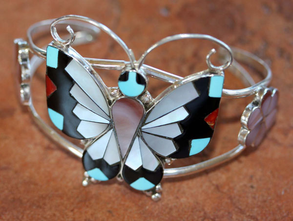 Zuni Sterling Butterfly Bracelet by Dishta