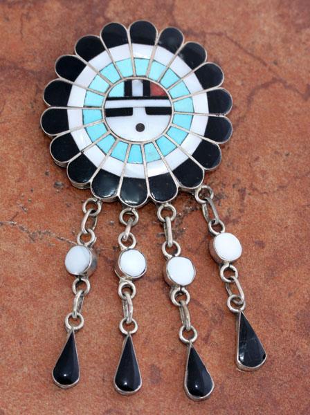 Zuni Sunface Pin/Pendant