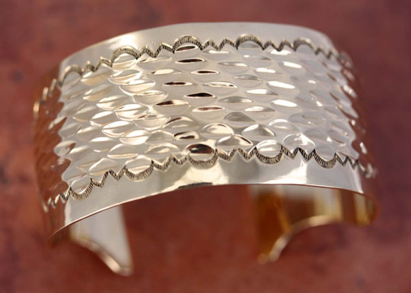 Navajo Native American Jeweler's Bronze Bracelet