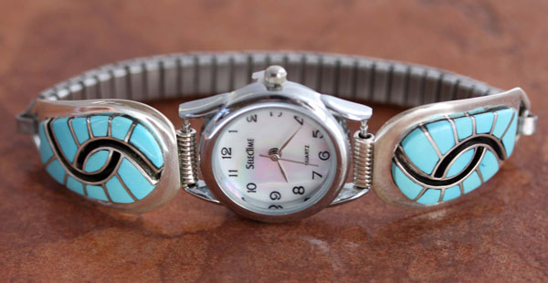 Zuni Multi_Stone Womens Watch by Amy Quandelacy
