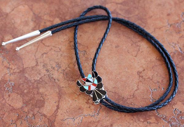 Zuni Native American Bird Bolo Tie