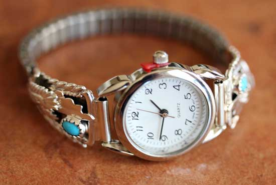 Navajo Turquoise Eagle Ladies Watch