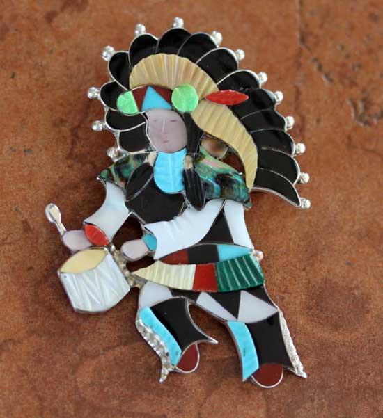 Zuni Kachina Pin/Pendant by Jon Beyuka
