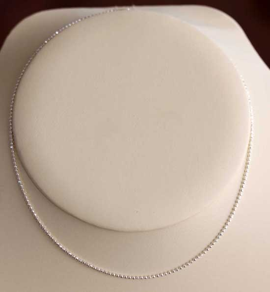 925 Sterling Silver 18 Inch Long Ball Chain