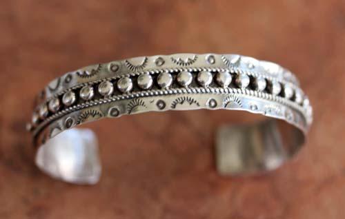 Zuni Silver Bracelet by JP Ukestine