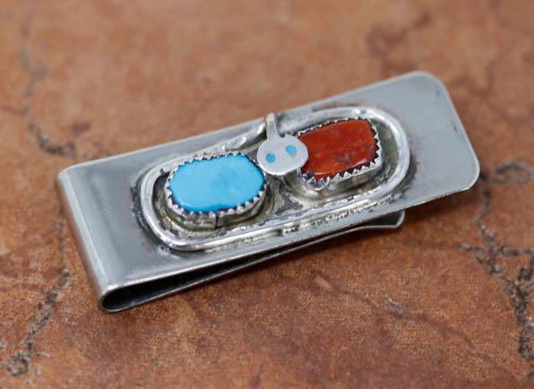 Zuni Multi Stone Money Clip by Effie